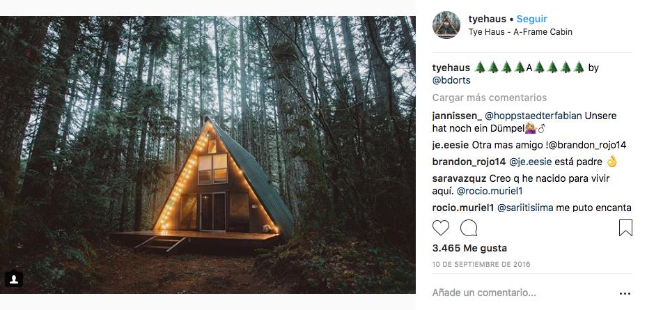 tyehaus alojamiento en instagram