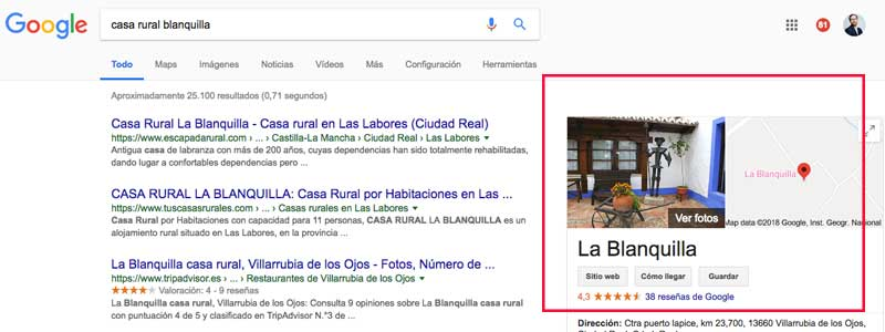 casa rural la Blanquilla en Villarrubia de los Ojos