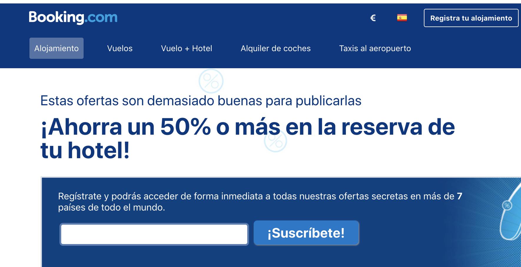booking.com como campaña de marketing para Black Friday