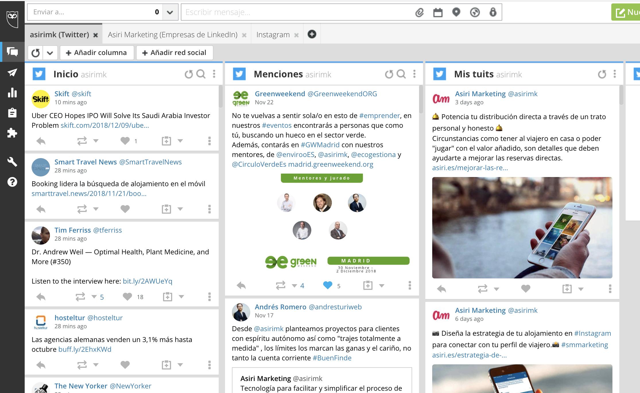 herramientas para gestionar las redes sociales de alojamiento