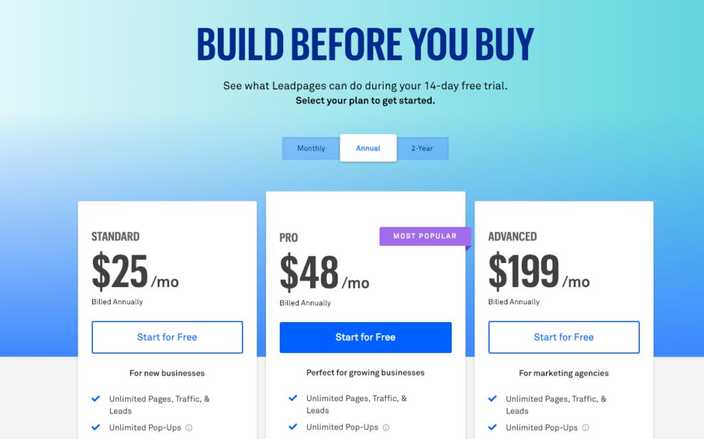 Leadpages una herramienta económica y fácil de utilizar